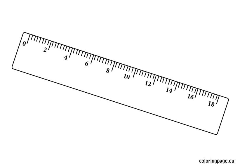 Ruler Coloring Pages First Day Of School Color