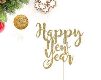 happy new year taart Happy New Year taart Topper Nieuwjaar taart door SocialBashAndCo  happy new year taart