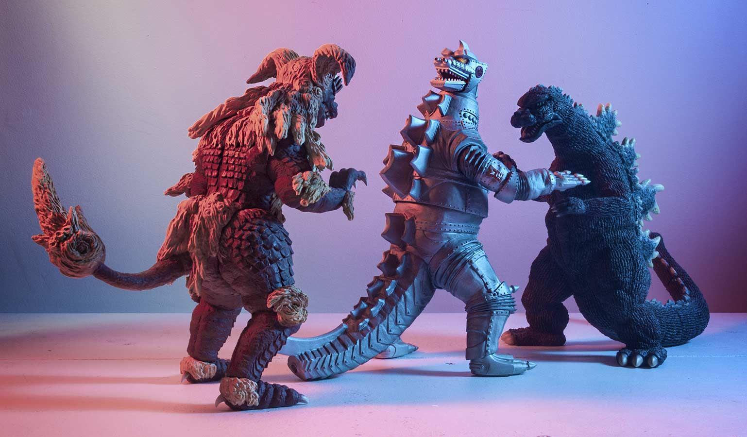 Someone srve Godzilla monster toys you
