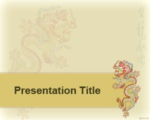 chinese dragon powerpoint template ppt pinterest templates