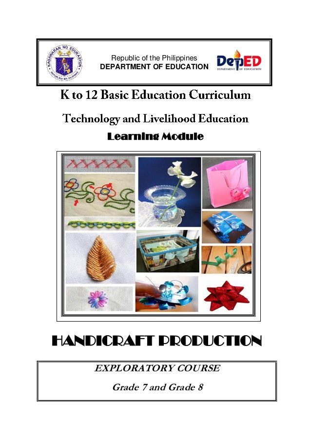 Learning Module Handicraft Production Exploratory Course