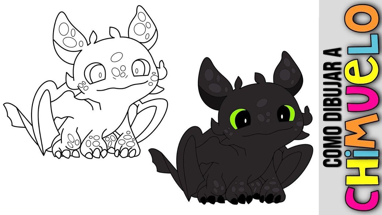 Como Dibujar A Chimuelo El Dragon De Como Entrenar Tu Dragon Toothles Como Dibujar Dragones Dibujos