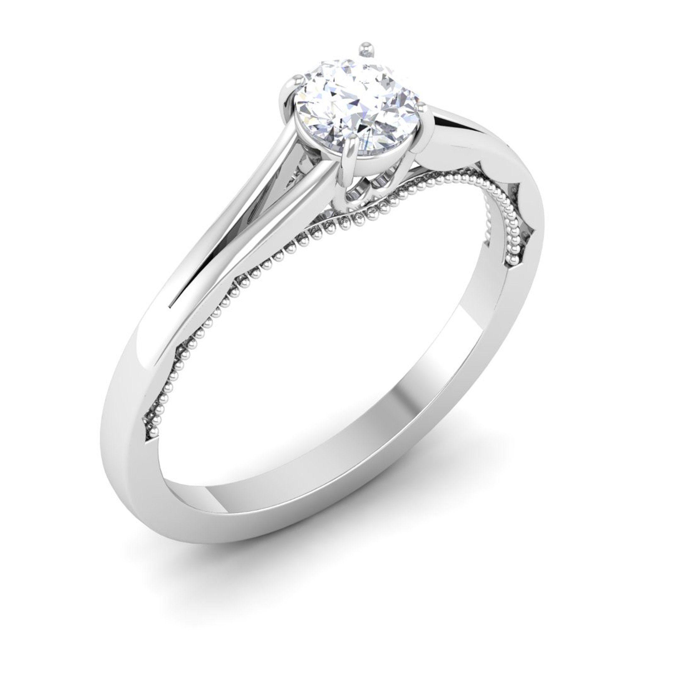 30 Pointer Split Shank Platinum Solitaire Engagement Ring For Women Jl Pt 547 Solitaire Engagement Ring Womens Engagement Rings Platinum Chain