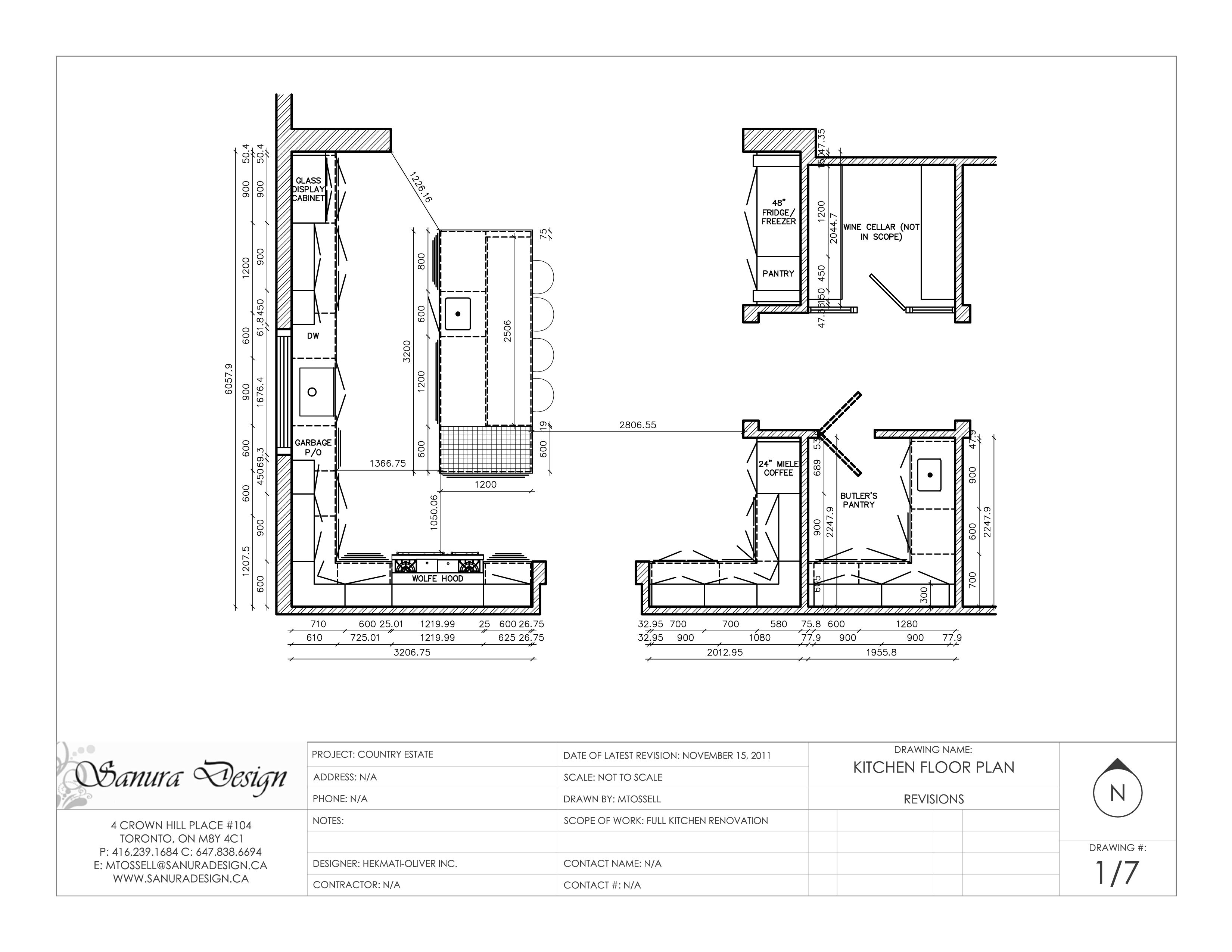 Floor Plan Elevation Drawing Software : A detailed elevation of traditional kitchen featuring