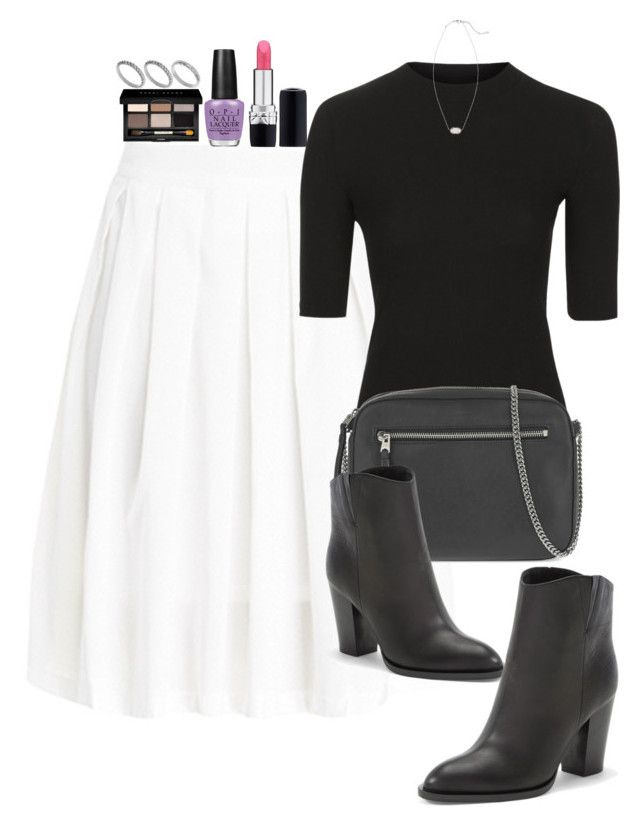 """""""Untitled #2965"""" by abigailtaylor ❤ liked on Polyvore featuring DailyLook, Christian Dior, Topshop, AllSaints, Vince, OPI, Bobbi Brown Cosmetics, ASOS and Kendra Scott"""
