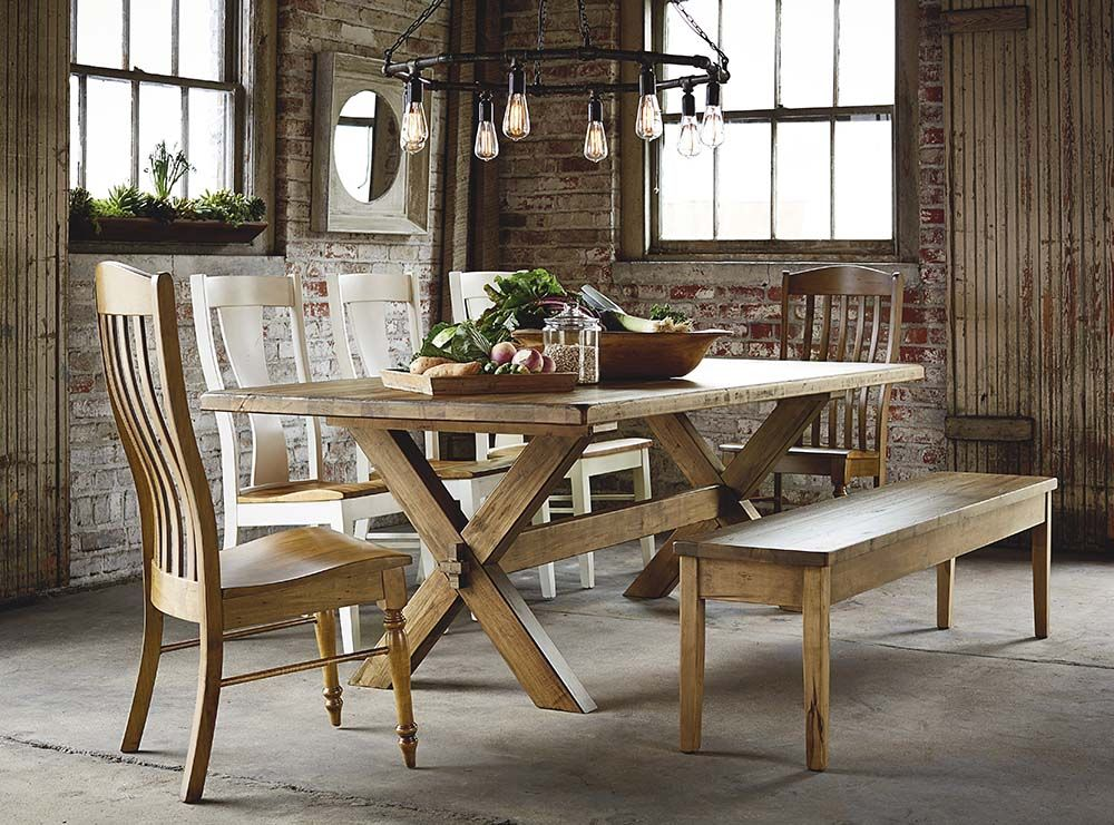"""Bench*Made Maple 90"""" Rectangular Table Dining table"""