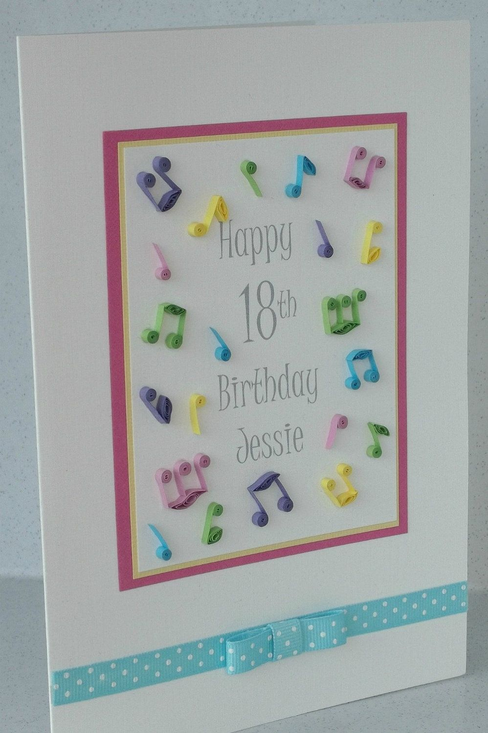 Musical quilled birthday card quilling music for the soul items similar to musical quilled birthday card birthday can be for any age and name on etsy kristyandbryce Gallery