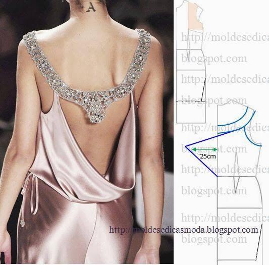 Plantillas de moda para la medida: TRANSFORMACIÓN DE VESTIDOS _72  thinking of a  basic sheath with this as an overlay layer?