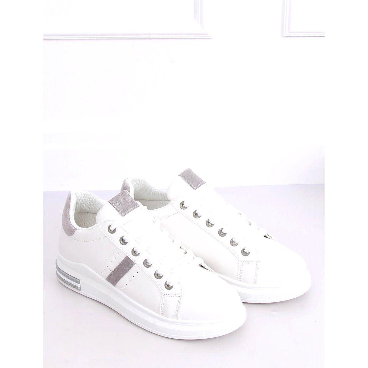 Buty Sportowe Damskie Biale Bl201p Grey White Sneaker Shoes Sneakers