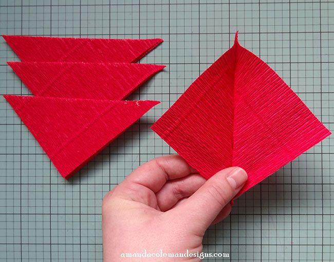Mitered Crepe Paper Leaves 3 Jpg 650 509 Pixels Paper Flower Tutorial Crepe Paper Paper Crafts