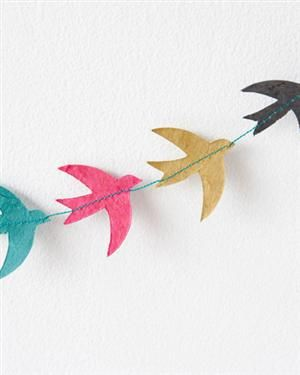 Bird garland via Couprio