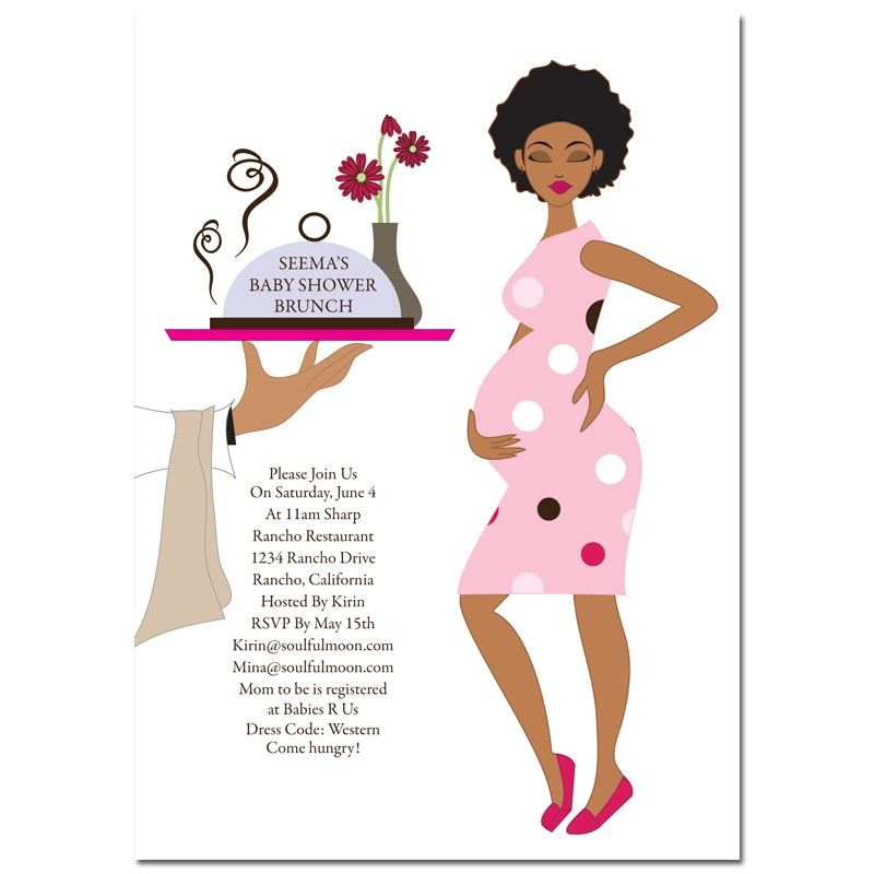 African American Baby Shower Invitations - Baby Shower Brunch ...