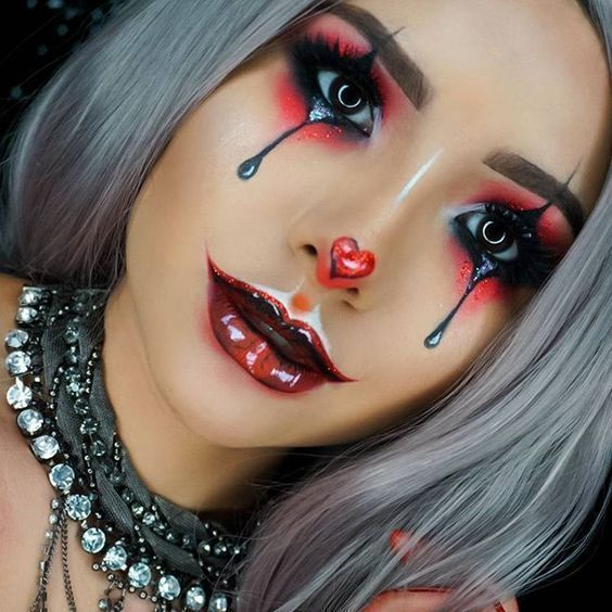 50 Pretty And Unique Makeup Looks For Halloween Cute Makeup Easy Makeup Ideas Halloween Makeup Pretty Halloween Makeup Clown Creepy Halloween Makeup