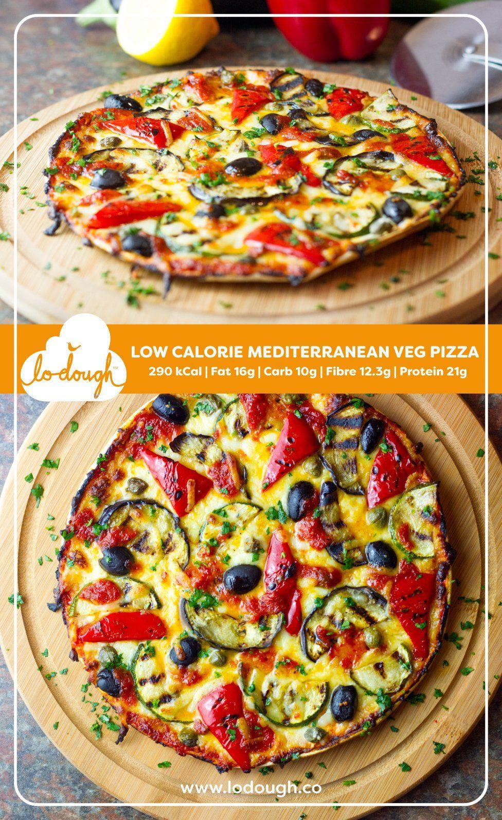 Low Calorie Mediterranean Veg Pizza Lo Dough Lowcarb