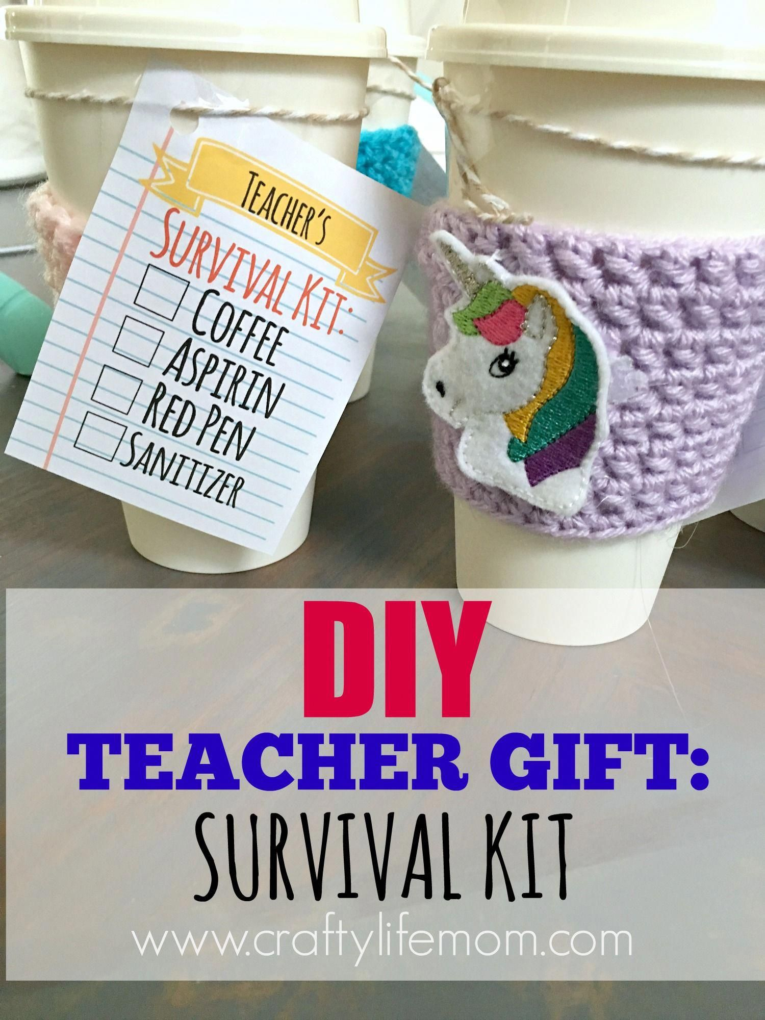 Diy teacher gift coffee survival kit you can make in