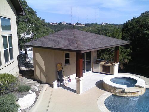 Pool House 17/' wide  x  23/' deep Guest House Bar Cabana Outdoor Kitchen