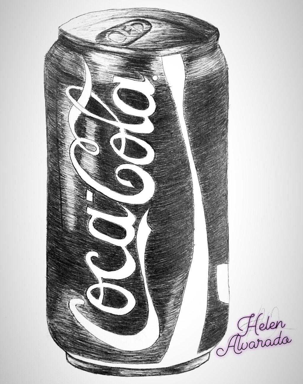 Cocacola Sketchbook Pensketch Drawings Pen Sketch Easy Still Life Drawing Lion Illustration