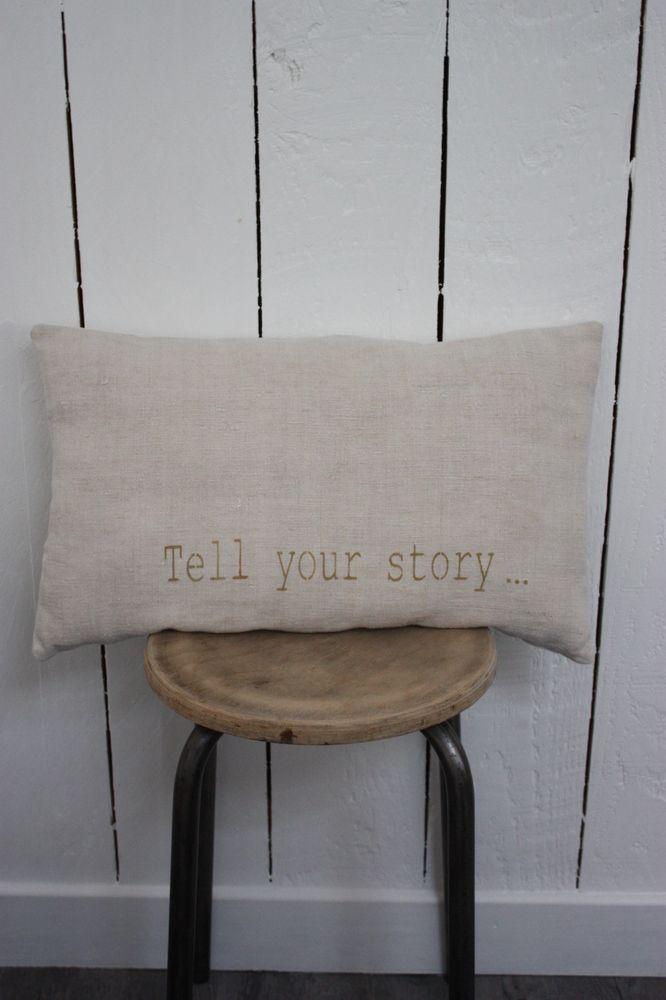 coussin en chanvre naturel tout doux pour le devant et m tis ou coton pour le dos pochoir tell. Black Bedroom Furniture Sets. Home Design Ideas