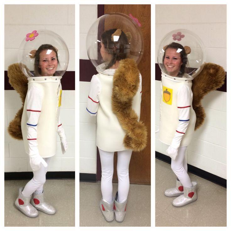 Photo of Character Day, Spirit Week, Sandy Cheeks Costume, DIY, Sewing, Spongebob Squarep…