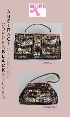 La Gioe Di Toscana Handbags All Italian Leather This Is A Work Of Art Black Silver Copper Foiled