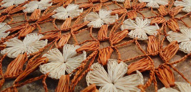 Artesanato com palha de buriti