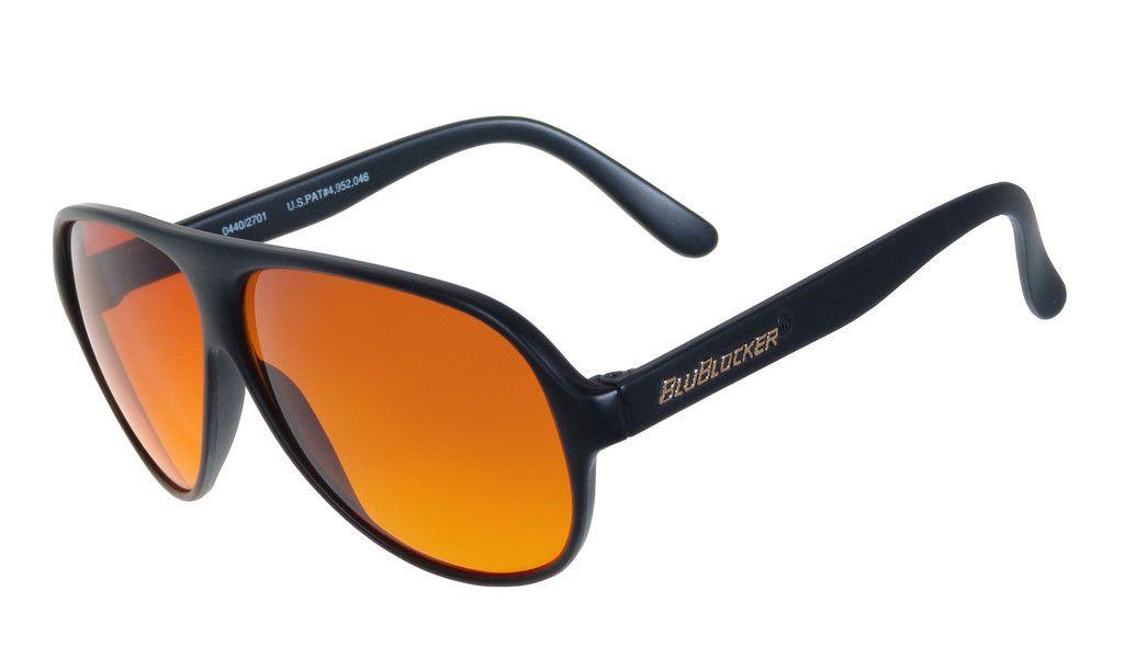 4aac7360848 Polarized Black Aviator BluBlocker Sunglasses - 0406K
