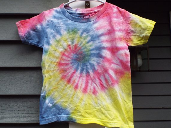 Kids Youth Tees Special Run 12 Color Spectrum Tie Dye *New* Handmade No Pink