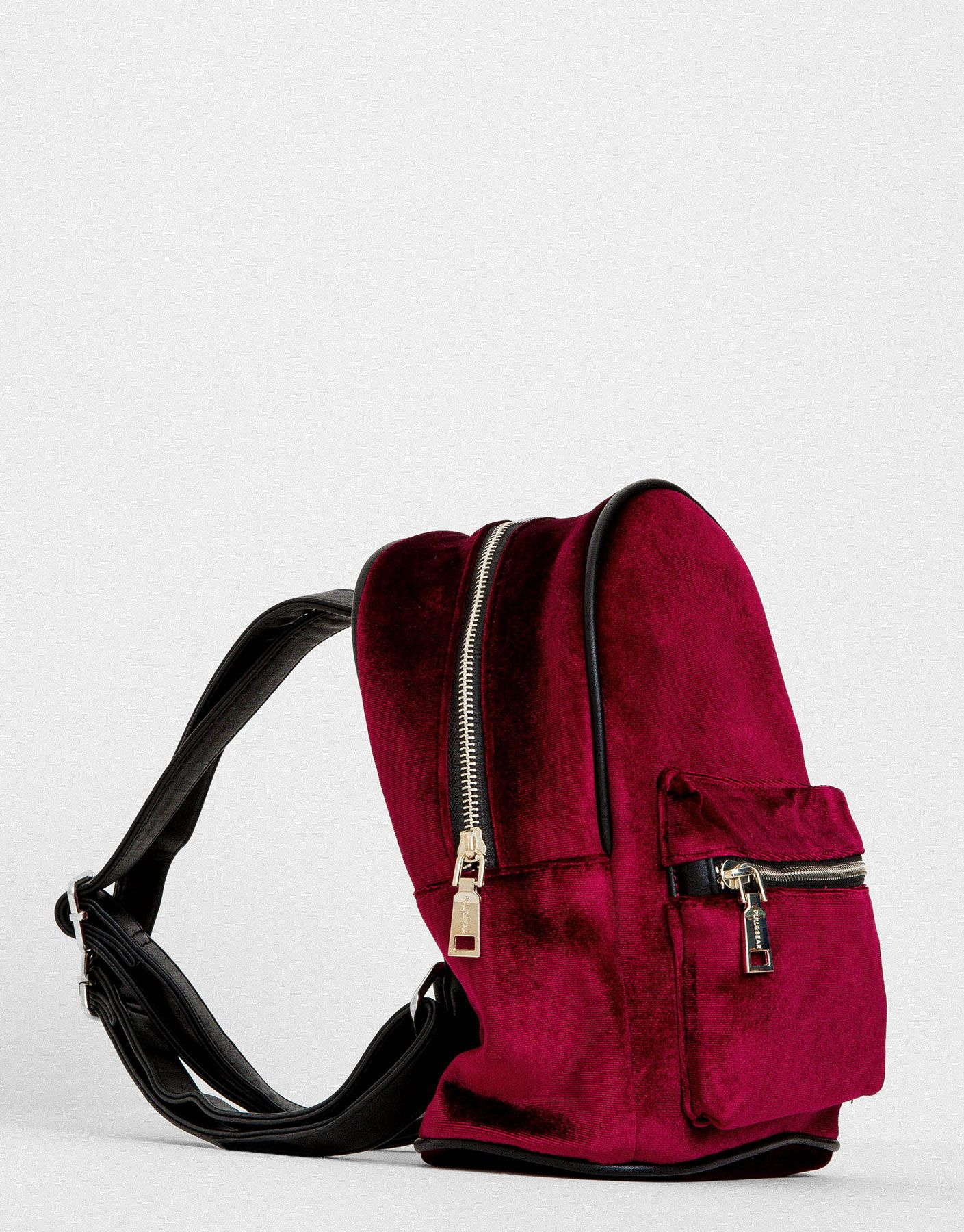 Kadife Sirt Cantasi Cantalar Aksesuarlar Kadin Pull Bear Turkiye Leather Backpack Leather Bags