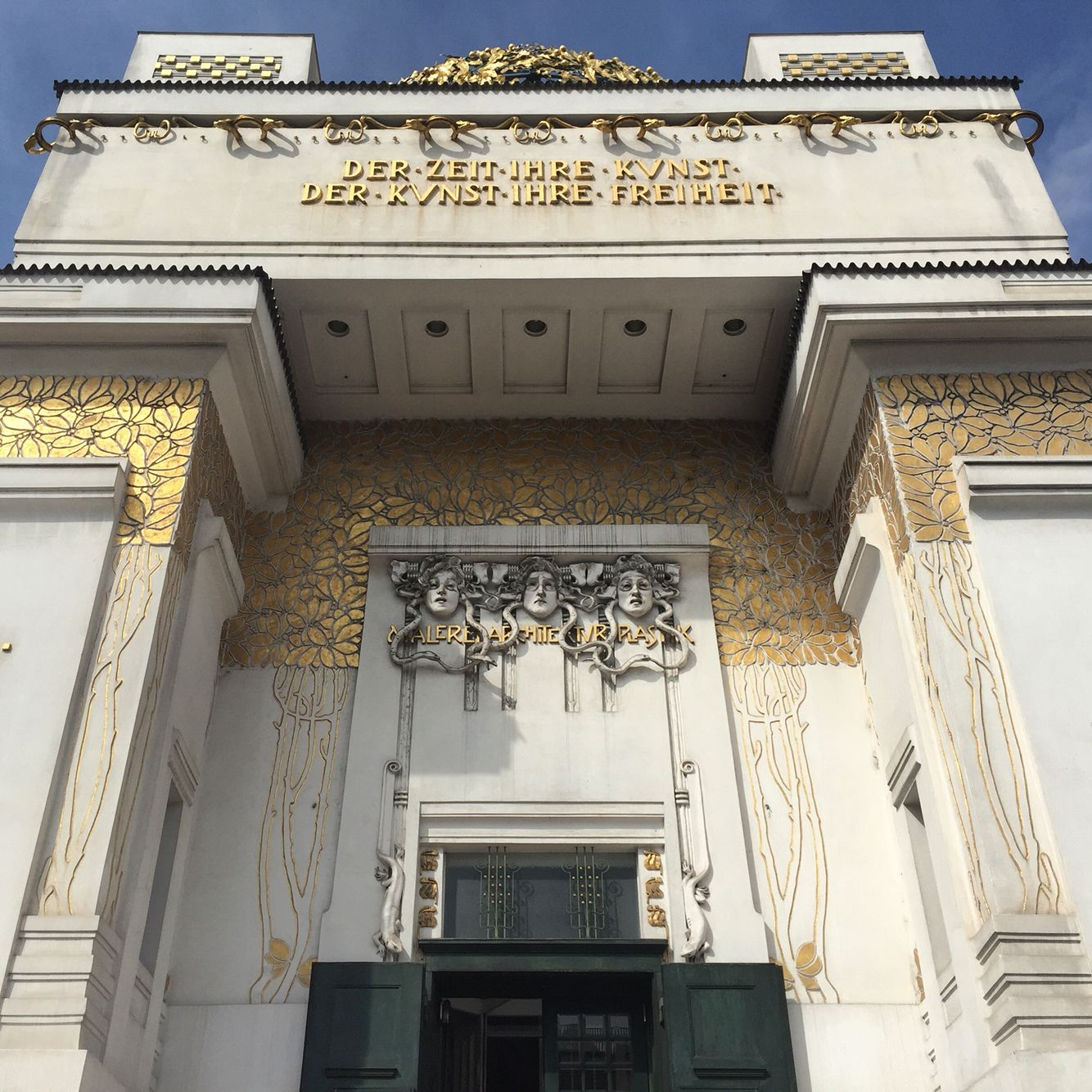 The Secession building glowing in its full gilded glory, Joseph Maria Olbrich, Vienna 1897-8
