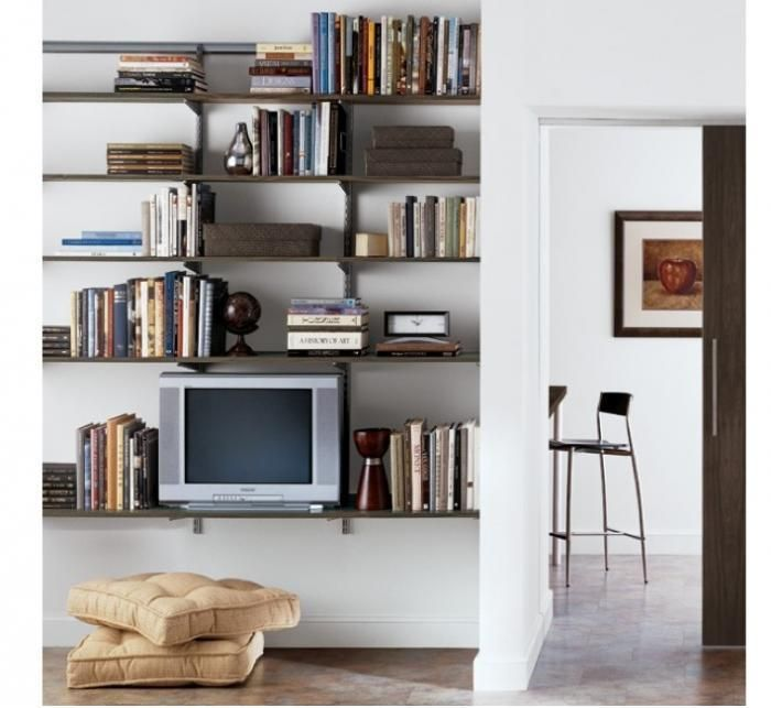Living Room Storage Systems: 10 Easy Pieces: Wall-Mounted Shelving Systems