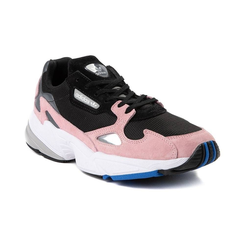 8048722230cd4 Womens adidas Falcon Athletic Shoe - Black Pink Blue - 436699 ...