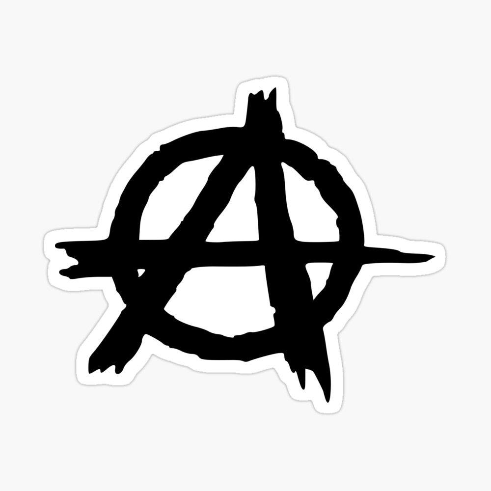 Pegatina Brillante Anarquia De Lodean Anarchy Stickers Aesthetic Stickers
