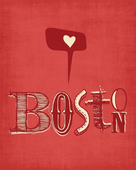 Boston Print Digital Print Boston Poster Boston Red Sox Sign