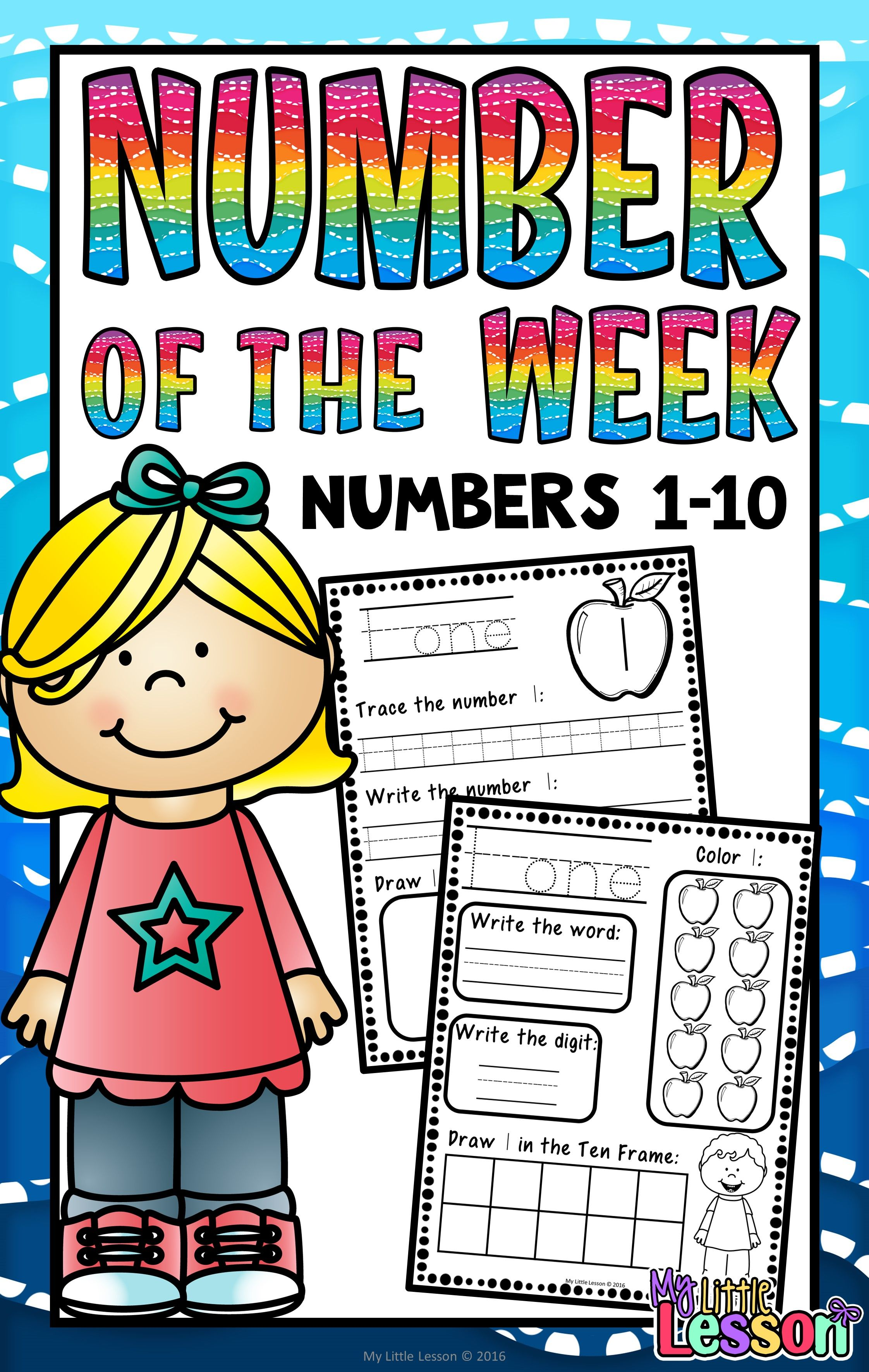 These Numbers 1 10 Worksheets Number Of The Week Contain