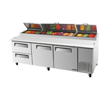 Turbo Air Turboair Super Deluxe Pizza Prep Table 31 Cu Ft Tpr