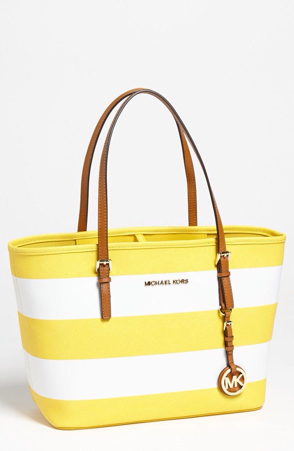 Michael kors jet set safiano in white and citrus! For a