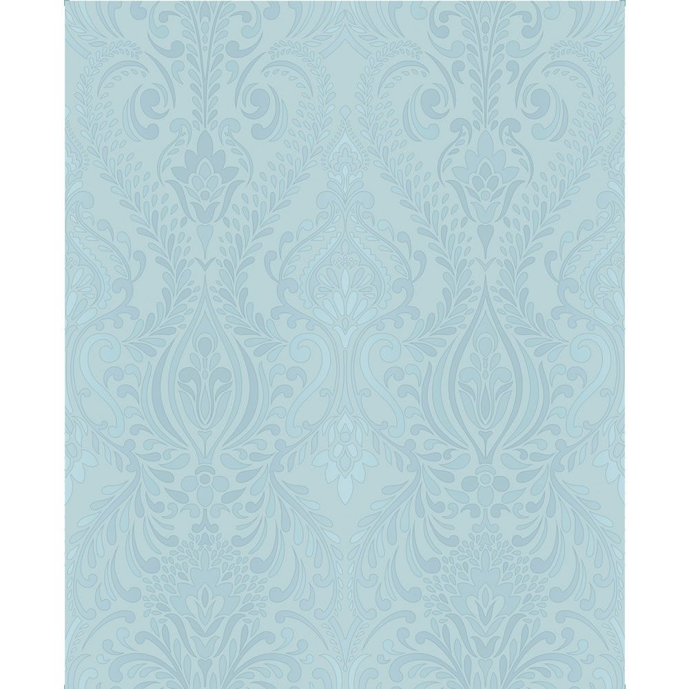 Sf Classica Damask Duck Egg Wallpaper Duck Egg Blue