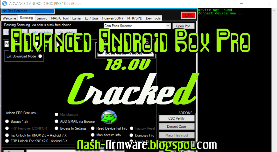 DownloadAdvanced Android Box Pro 18 0v (Beta) Feature: Frp