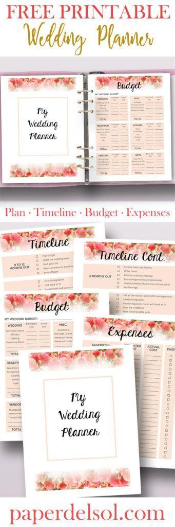 Free Printable Wedding Planner For Wedding Binder Planners