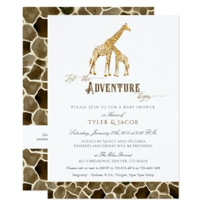 Watercolor safari adventure baby shower giraffes card invitations watercolor safari adventure baby shower giraffes card invitations custom unique diy personalize occasions negle Image collections