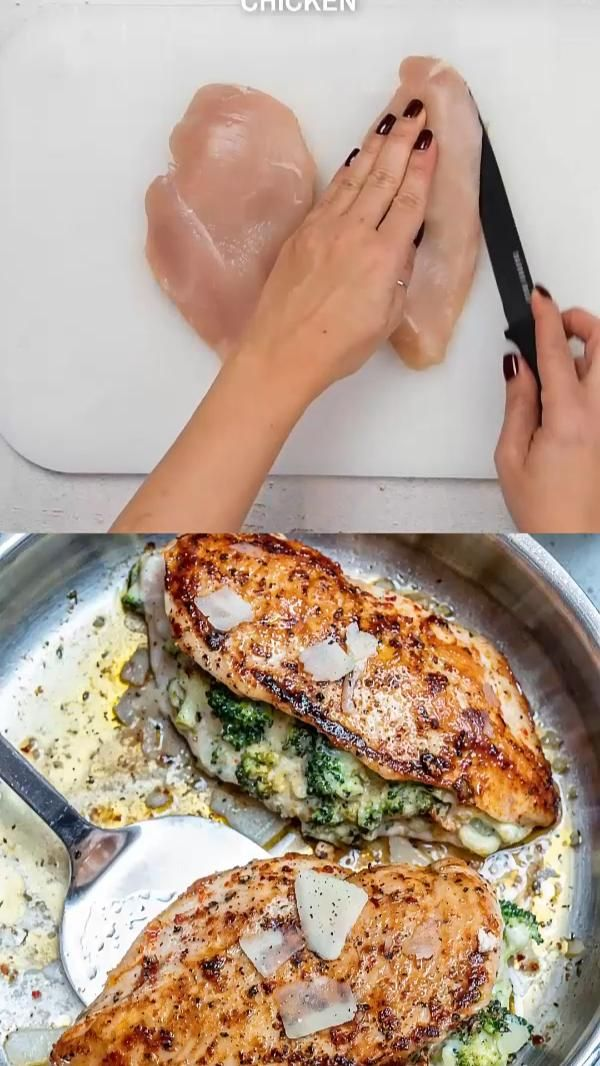 CHEESY BROCCOLI STUFFED CHICKEN BREAST
