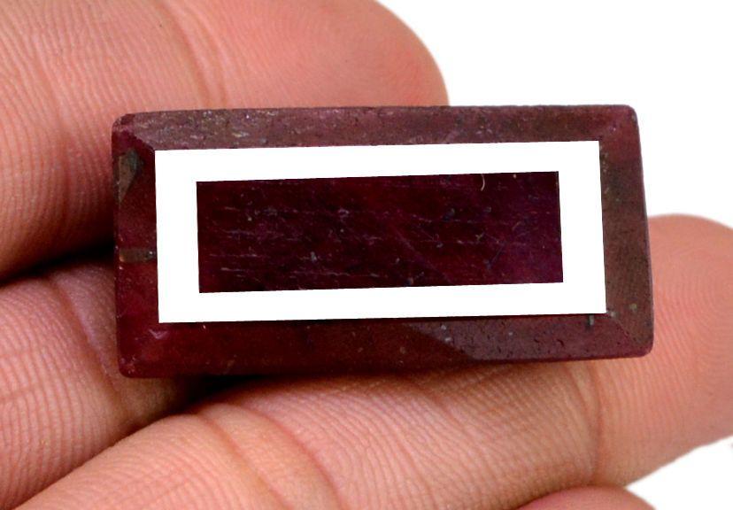 116ct Big Natural Rectangular Shape Blood Red Ruby Loose Gemstone on ebay