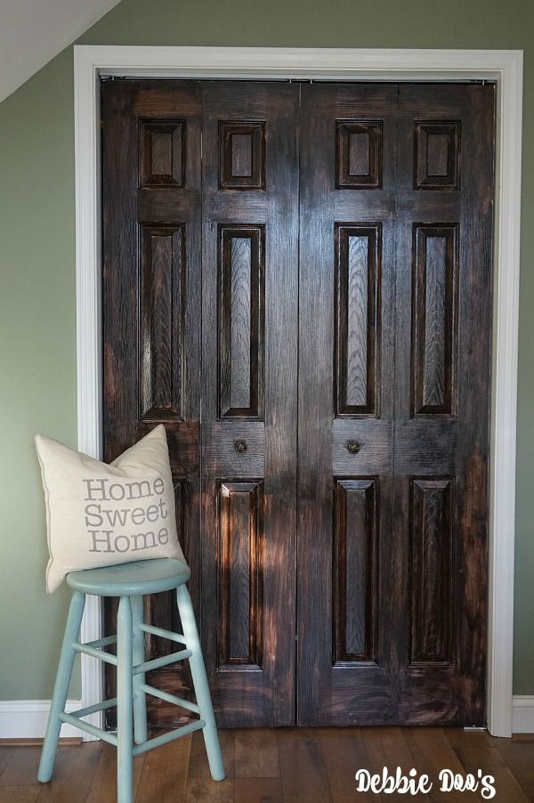 How To Paint A Plain White Door To Look Like Wood Doors Woods And