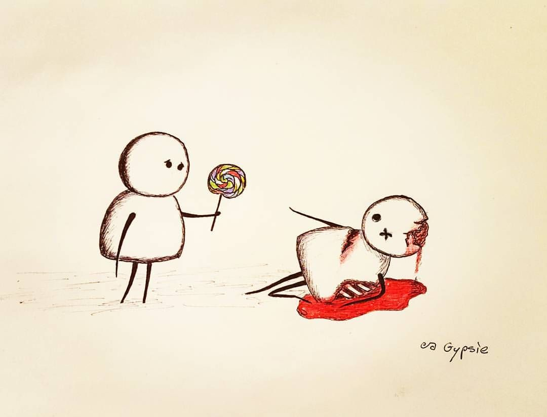 Gypsiedrawings morbid whimsy dessin tatoo amour - Dessin triste ...