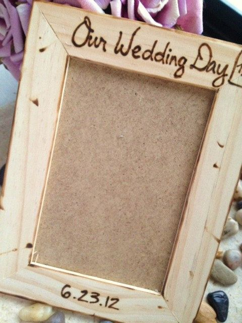 Our Wedding Day Personalized Frame with Carved by PrinceWhitaker, $17.99