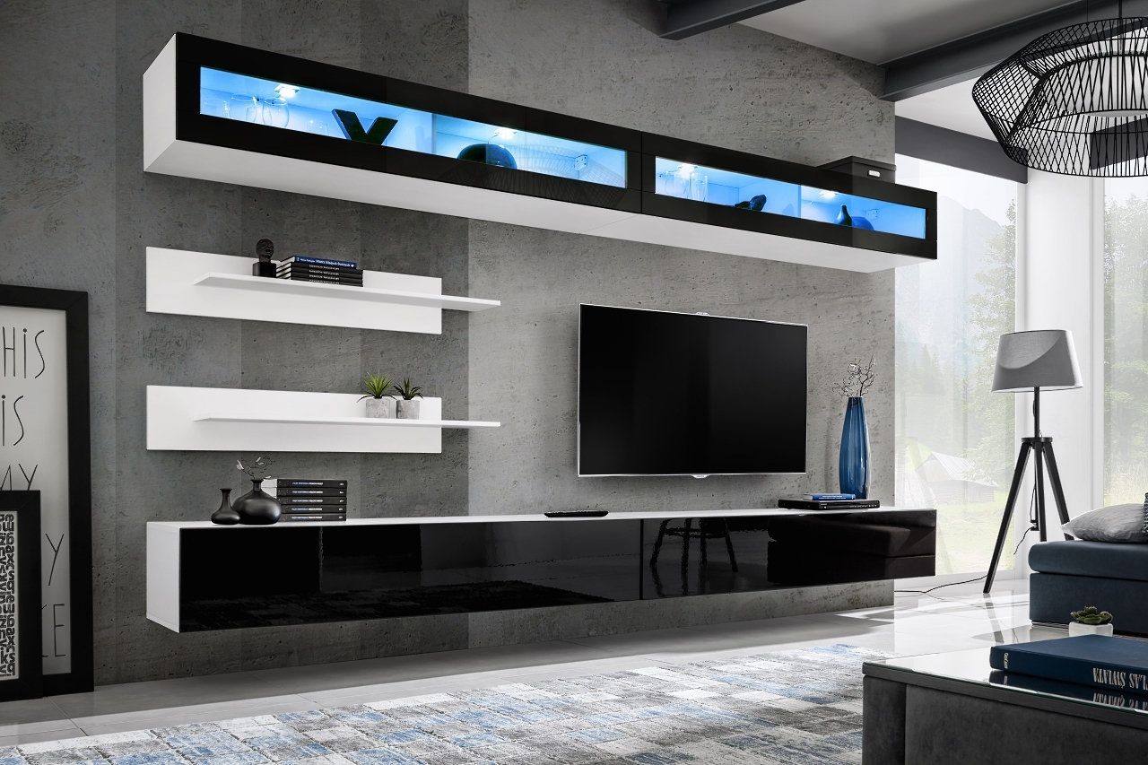 Idea I2 Meuble Tv Led Entertainment Wall Units Modern