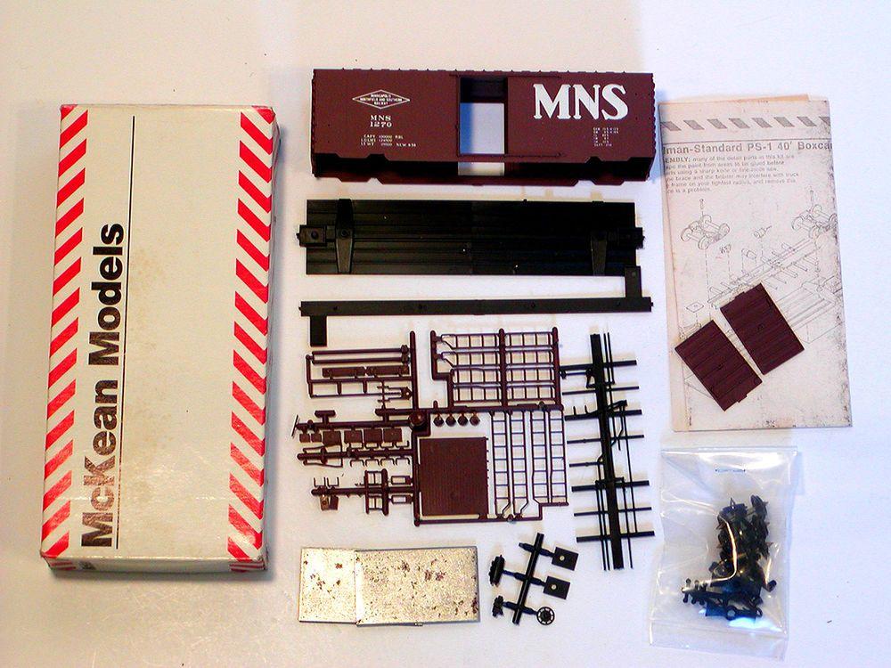 nib ho 1 87 mckean models 40 mns ps 1 boxcar kit 725 master series rh pinterest com