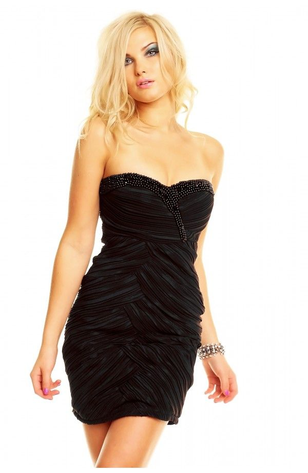 Sort smuk cocktail kjole. Billigst på nettet. Fåes iøvrigt også i blå. Find den her http://youshoe.dk/toj/595-charms-party-dress-.html