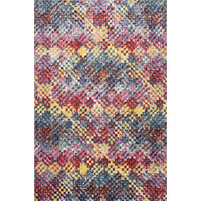 Bungalow Rose Byington Redpinkgray Area Rug Products Rugs