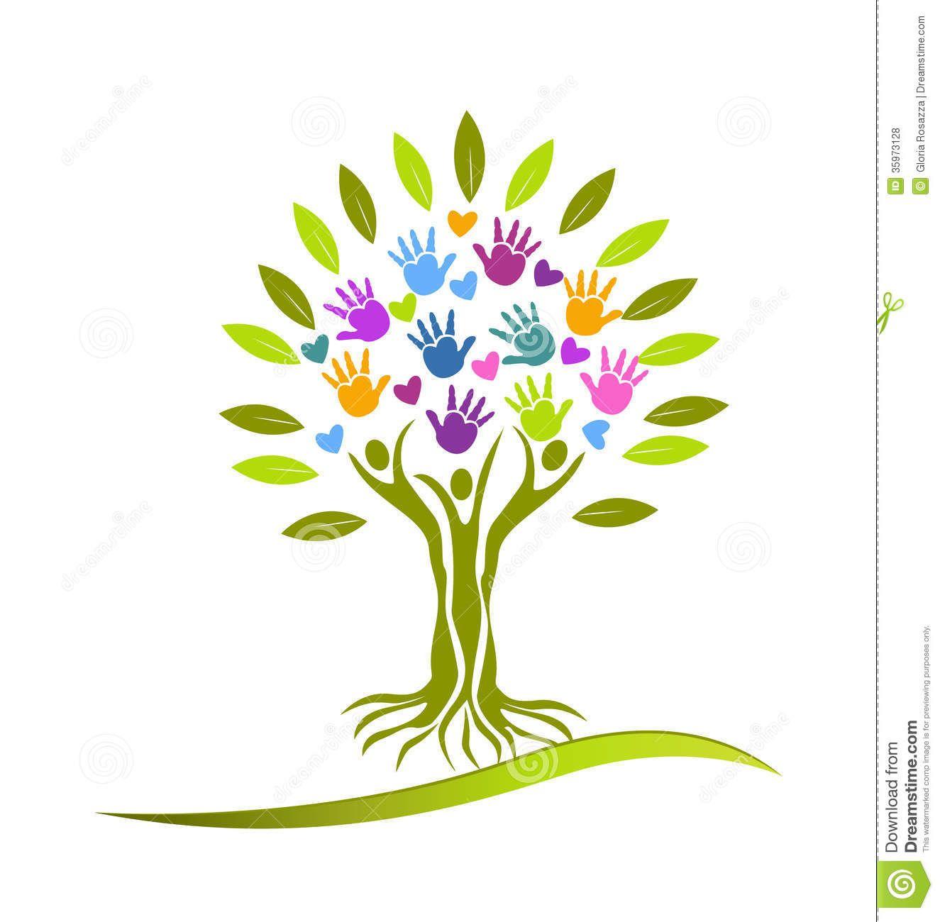 Tree Hands And Hearts Logo Family Tree Logo Tree Logo Design Tree Logos